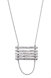 Women's Nordstrom Bar Pendant Necklace Silver