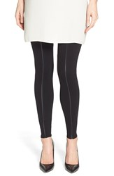 Women's Lysse Faux Leather And Ponte Leggings Black