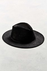 Urban Outfitters Herschel Supply Co. X Uo Leather Fedora Black