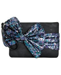 Betsey Johnson Large Sequin Bow Wristlet Mermaid