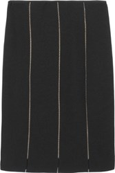 Valentino Roma Paneled Knitted Pencil Skirt
