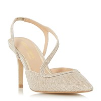 Head Over Heels Cherie Assymetric Strap Open Courts Gold