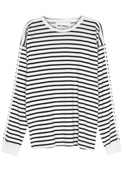 Our Legacy Bolly Striped Cotton Top Black And White