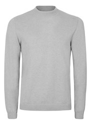 Topman Grey Marl Mini Roll Neck Jumper