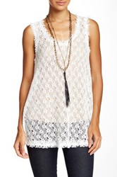 Ryu Lace Sleeveless Blouse White