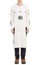 Hood By Air Logo Patch Sweater White