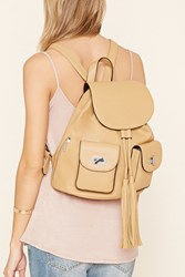 Forever 21 Faux Leather Tassel Backpack