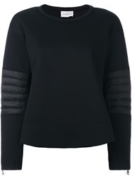 Moncler Quilted Sweatshirt Black
