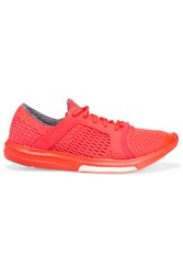 Adidas By Stella Mccartney Cc Sonic Boost Neon Mesh Sneakers Orange