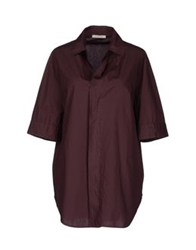Hache Short Sleeve Shirts Maroon