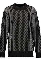 Alexander Wang T By Cable Knit Sweater Light Gray
