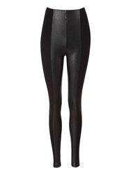 Jane Norman Pu Panel Leggings Black