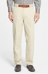 Men's Big And Tall Cutter And Buck 'Curtis' Flat Front Five Pocket Cotton Twill Pants Cedar Beige