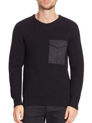 Rag And Bone Long Sleeve Knit Sweater Black