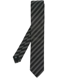 Dolce And Gabbana Striped Tie Black