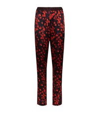 Givenchy Floral Silk Trousers Female Red