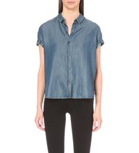 Allsaints Jil Denim Shirt Indigo Blue