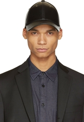 Marc By Marc Jacobs Black Grained Leather Cap