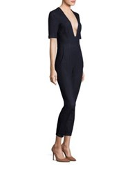3X1 Plunging Neck Jumpsuit Dark Blue