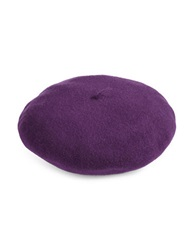 Parkhurst Water Repellent Wool Felt Beret Purple