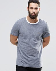 Farah T Shirt With Contrast Ringer In Navy Navy
