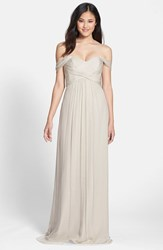 Amsale Women's Convertible Crinkled Silk Chiffon Gown Champagne