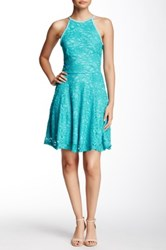 Love Nickie Lew Glitter Lace Fit And Flare Dress Juniors Blue