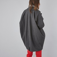 Mm6 By Maison Martin Margiela Cocoon Coat Grey Marle