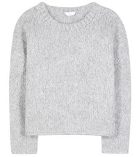 Chloe Mohair Virgin Wool And Cashmere Sweater Grey