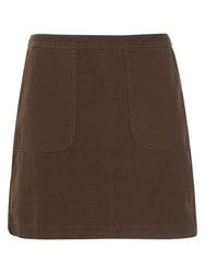French Connection Kenyan Twill Mini Skirt Turtle