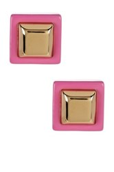 Marc By Marc Jacobs Metal Kandi Square Stud Earrings Purple