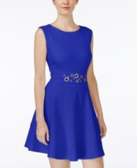 Xoxo Juniors' Grommet Detail Fit And Flare Dress Cobalt