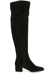 Gianvito Rossi 'Rolling' Over Knee Boots Black