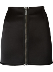 Anthony Vaccarello Zipped Fitted Mini Skirt Black