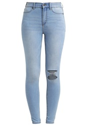 Cheap Monday High Spray Slim Fit Jeans Stone Bleach Rip Stone Blue