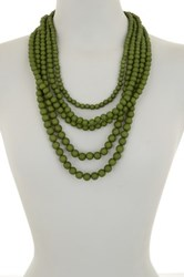 Madison Parker Layered Graduating Bead Drape Necklace Green