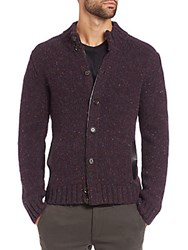 Saks Fifth Avenue Trapper Cardigan Sweater Red