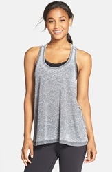 Reebok 'Studio Faves' Burnout Racerback Tank Black