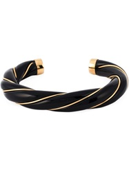 Aurelie Bidermann 18Kt Gold Plated 'Diana' Bangle Black