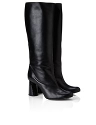 Carven Black Leather Long Boots
