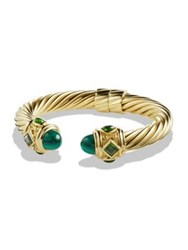David Yurman Renaissance Bracelet With Malachite And Green Chrome Diopside In 18K Gold Gold Green