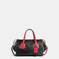 Coach Badlands Satchel In Colorblock Leather Black Copper Black 1941 Red