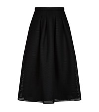 Burberry Technical Mesh Midi Skirt Female Black
