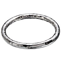 Andea Sterling Silver Thick Hammered Bangle Silver