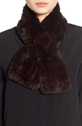 Women's Dena Genuine Rex Rabbit Fur Pull Through Scarf