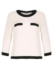 Cutie Monochrome Long Sleeve Top White