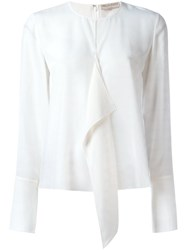Emilio Pucci Ruffle Front Blouse White