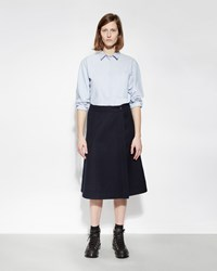 Mhl By Margaret Howell Front Wrap Skirt Dark Navy