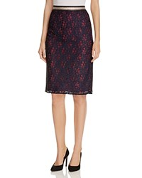 Scotch And Soda Metallic Trimmed Lace Pencil Skirt Combo B