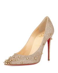 Christian Louboutin Degraspike Studded Glitter Red Sole Pump